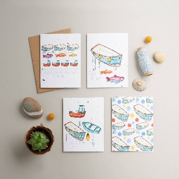 Greetings card flatlay by Forever Creative