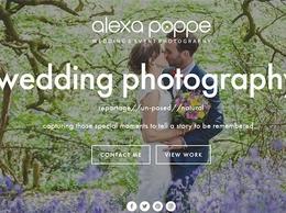 https://www.alexapoppeweddingphotography.com/ website